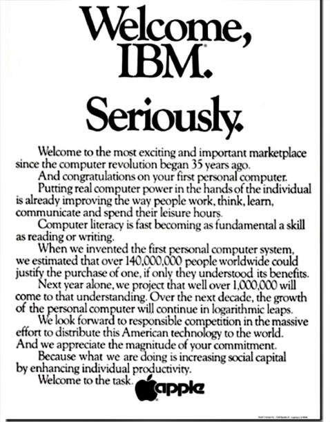 Apple Welcome IBM (http://www.enter.co/)
